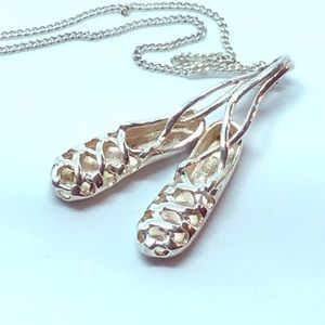 Jewelry - Sterling Silver Irish Dancing Shoes Necklace